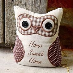 Home Sweet Home Owl Door Stop - decorative accessories
