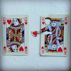 Playing Hearts King Loves Queen