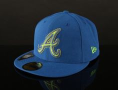 Atlanta Braves Four Stitch 59Fifty Fitted Baseball Cap by NEW ERA x MLB