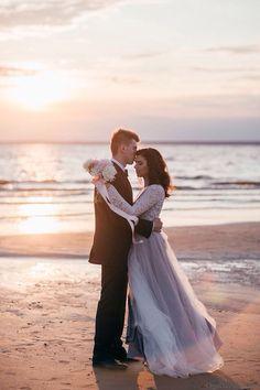Vanilla sky in wedding photo