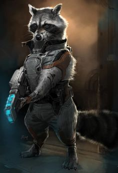 Rocket Raccoon Concept Art #GotG