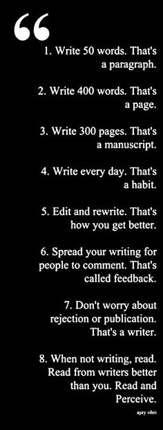 "booksthatbleed: "" "" How To Be a Better Writer "" Things to remember """