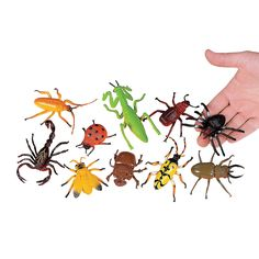 10 Just Buggy Bugs & Spiders - OrientalTrading.com http://www.orientaltrading.com/just-buggy-bugs-and-spiders-a2-58_7.fltr?Ntt=bugs