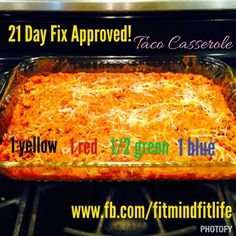 Mommy Business: Taco Casserole - Great for Meal Prep - 21 Day Fix quinua 1 water 21 Day Fix Diet, 21 Day Fix Meal Plan, Week Diet, Taco Casserole, Taco Bake, 21 Day Fix Recipies, 21 Day Fix Quinoa Recipes, 21 Day Fix Snacks, Beachbody 21 Day Fix