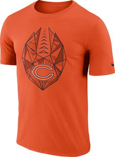 93d77fd2aa97 Nike Men s Chicago Bears Icon Performance Orange T-Shirt
