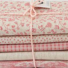 """Kit de tecidos de patchwork """"Linho Rosé"""" :: Country Craft Studio Patchwork"""