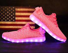 Light Up Shoes Womens 7 Colors LED Flashing Luminous Light Up Shoes Pink  Sneaker Light Up 2904fdbc6