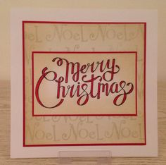 CAS Christmas card using Clarity Stamps Christmas 2016