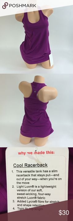 Lululemon Athletica Tank Lululemon Athletica Cool Racerback Tank lululemon athletica Tops Tank Tops