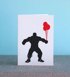 Avengers The Hulk Superhero Birthday Greeting Invitation Cards https://www.etsy.com/shop/genefyprints
