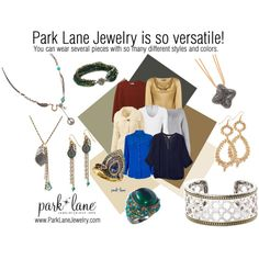 """""""Park Lane Versatility""""   Park Lane Jewelry Featured: Ivy Bracelet, Flower Child Necklace, Peacock Necklace, Ring, and Pierced Earrings, Emerald City Ring, Notorious Bracelet, Tier Drop Pierced Earrings, and Notice Me Necklace"""