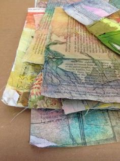 Sewing Fabric Types In this Guest Post, Diana Trout shares her technique for making Paper cloth, a sturdy paper you can use in amazing ways, including making book covers. Mixed Media Techniques, Art Techniques, Origami, Paper Art, Fabric Painting, Diy Paper, Altered Books, Altered Art, Mixed Media