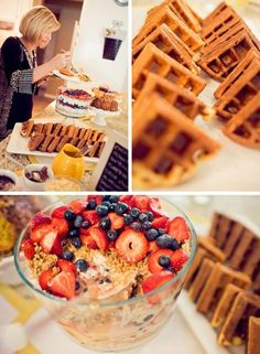 brunch shower waffles from jaycs with syrup on side must remember this