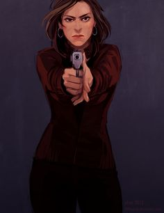 Reminds me so much of Olivia Benson from Law and Order SVU comm: gunshot by littleulvar on deviantART