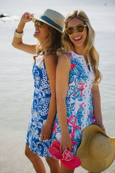 Lilly Pulitzer Marianne Shift & Janice Shift worn by @PalmBeachLately #SummerInLilly: