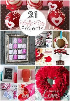 21 Valentine's Day Projects-Tatertots & Jello (yay my Book Page Valentine Baner made the list!!)  #valentine #craft #diy #valentine gift