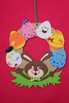 Easter wreath craft ideas We prepared a funny story and easy Easter wreath craft ideas for you lets check! Read the story then select your Easter wreath activity. Easter Activities For Kids, Easter Crafts For Kids, Easter Art, Easter Bunny, Easter Pictures, Bunny Crafts, Wreath Crafts, Easter Wreaths, Spring Crafts