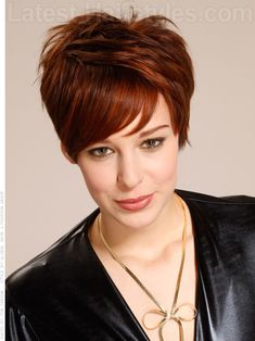 Soft Sophistication Pixie Red Highlights