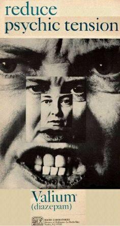"""Publicidad """"agresiva"""" de Valium (1965): """"Reduce la tensión psíquica"""""""