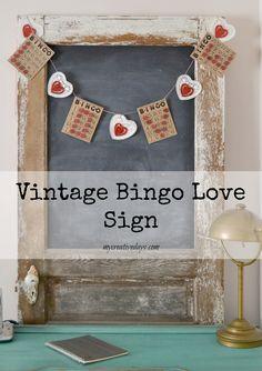 I <3 Valentines - Vintage Bingo Love Sign mycreativedays.com