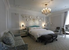 Bedroom of the Tiffany Suite at the St Regis New York