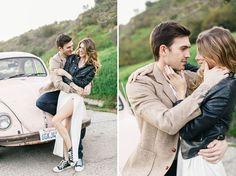 Brittany + Marty's Hollywood VW Bug Engagement : Jana Williams
