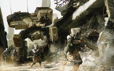 Battlemech by fxEVo.deviantart.com on @deviantART