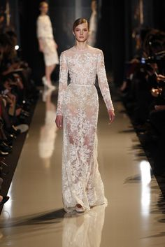 11 Elie Saab Spring Couture Gowns We Hope to See on the Red Carpet: Naomi Watts has been nailing it, most recently in Zac Posen at the Golden Globes, and this long-sleeved body-conscious gown would hit all the right notes on The Impossible actress.  Source: Courtesy of Elie Saab