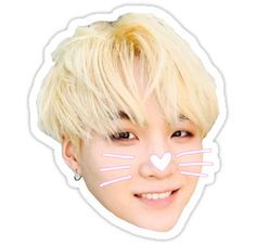 min gato yoongi pegatina Selca • Also buy this artwork on stickers, phone cases y stationery.