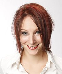 Short Straight Casual Hairstyle - Red Hair Color with Light Red Highlights - Lobfrisuren Virtual Hairstyles, New Short Hairstyles, Casual Hairstyles, Permed Hairstyles, Straight Hairstyles, Top Hair Salon, Natural Wavy Hair, Short Straight Hair, Hairstyle Look