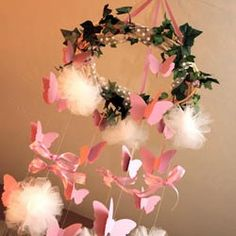 Crafty Party Butterfly Mobile ~ cute!
