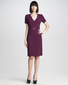 Stretch-Cady Dress by Yves Saint Laurent~simple elegance like this