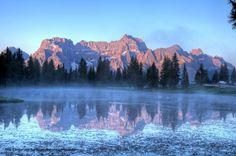 Sorapis e lago d'Antorno Belluno Dolomiti Veneto Italia