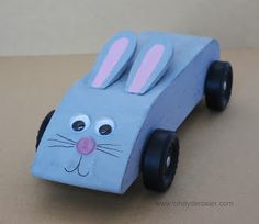 My bunny car: Pinewood Derby, 2013