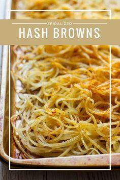 Spiralized potatoes | spiralizer | home made hashbrowns | spiralizer potato recipes | breakfast recipe | healthy breakfast recipe