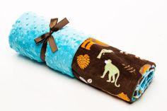 Animal Kingdom Receiving Blanket by ElonkaNichole on Etsy, $45.00 www.elonkanichole.com