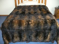 King size Possum skin fur bedspread. Ultimate luxury.