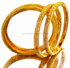 Bangles / Bracelets / Kada - Gold Jewellery Bangles / Bracelets / Kada at USD Gold Bangles For Women, Gold Bangles Design, Gold Earrings Designs, Gold Jewellery Design, Gold Bangle Bracelet, Bangle Set, Silver Bracelets, Gold Jewelry Simple, Euro