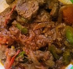 #organicprairie Liver fried up in #kerrygold butter onions tomatoes and peppers. #lchf #lchflifestyle #lchfweightloss #lowcarbhighfat #lowcarb #ketoweightloss #keto #ketogeniclifestyle #ketogenic #ketosis  #pcosfighter #pcos #type2diabetic #ketocooking #paleo #paleolifestyle  #islandcooking #paleocooking  #islandketo #islandpaleo by ketopaleo.islander