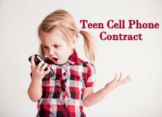 Teen cell phone contract between kids and parents | This will come in handy when my daughter gets her first phone - The Beauty Thesis