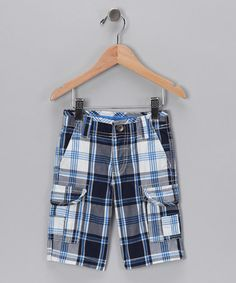 Take a look at this Pilot Plaid Cargo Shorts - Toddler & Boys by Losan on #zulily today!