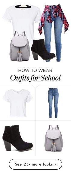 """Back to school"" by maryamlovesbeauty on Polyvore featuring RE/DONE"