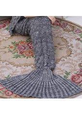 Mermaid Tail Design Purple Knitted Blanket on sale only US$23.49 now, buy cheap Mermaid Tail Design Purple Knitted Blanket at lulugal.com