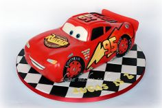 lightning mcqueen (by donna_makes_cakes)