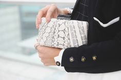 IN SPACE | Cindiddy.com : Fashion & Lifestyle #espey #KOTUR #clutch #snakeskin #black #white #cindiddy #blogger