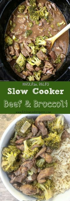 paleo recipes Slow Cooker/Crockpot Paleo - This healthy beef amp; broccoli recipe is not only and paleo but super easy to make. Rather than take-out, let your slow cooker do the work. Slow Cooker Beef Broccoli, Healthy Beef And Broccoli, Slow Cooked Meals, Broccoli Beef, Broccoli Recipes, Broccoli Stalk, Califlower Recipes, Stew Meat Recipes, Slow Cooker Recipes