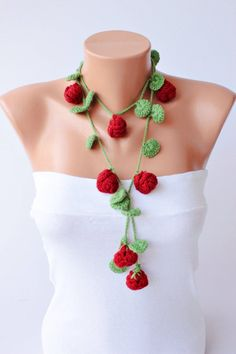 ●Handmade crochet lariat scarf ●The Material: Acrylic yarn ●Measurement : 120 cm / 47 inch ●Care instructions : Handwash gently in cool or lukewarm Diy Crochet Gifts, Unique Crochet, Crochet Mask, Bead Crochet, Neck Accessories, Crochet Accessories, Crochet Flower Patterns, Crochet Flowers, Beaded Necklace Patterns