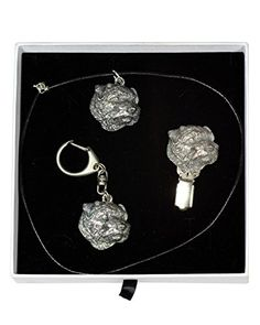 NEW, Norfolk Terrier, dog keyring, necklace and clipring in casket, ELEGANCE set, limited edition, ArtDog -- Check this awesome product by going to the link at the image.