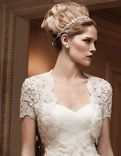 Sheer lace bolero jacket from Casablanca. Gorgeous!