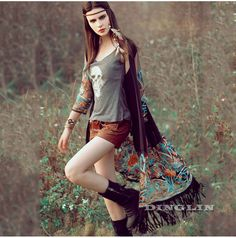 Cheap blouse fashion, Buy Quality fashion blouses directly from China top blouse Suppliers: GZDL Fashion Women Kimono Open Front Tassel Blusa Feminina Casual Transparent Chiffon Mesh Embroidery Cardigan Top Blouse CL2720